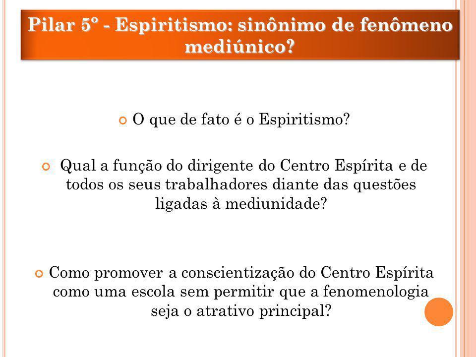 O que de fato é o Espiritismo? Qual a função do dirigente do Centro Espírita e de todos os seus trabalhadores diante das questões ligadas à mediunidad