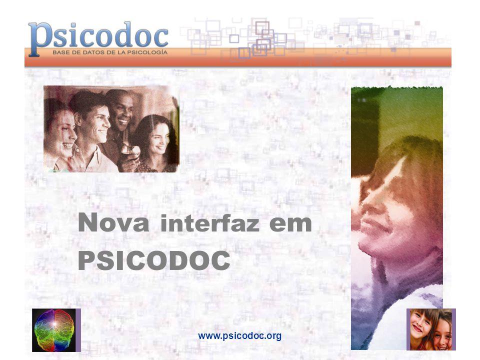 www.psicodoc.org Nova interfaz em PSICODOC