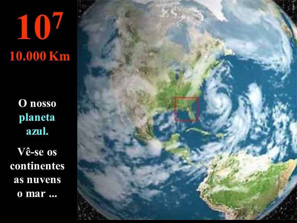 ... como visto de um satélite ! 10 6 1.000 Km