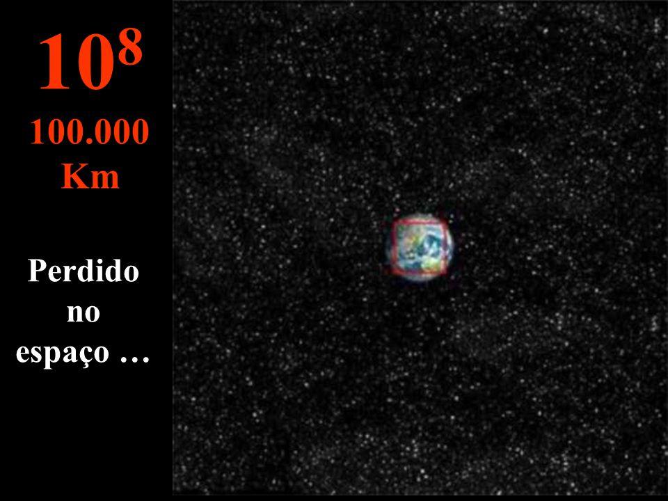 O nosso planeta azul. Vê-se os continentes as nuvens o mar... 10 7 10.000 Km