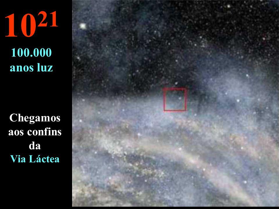Continua-se a nossa viagem na Via Láctea 10 20 10.000 anos luz