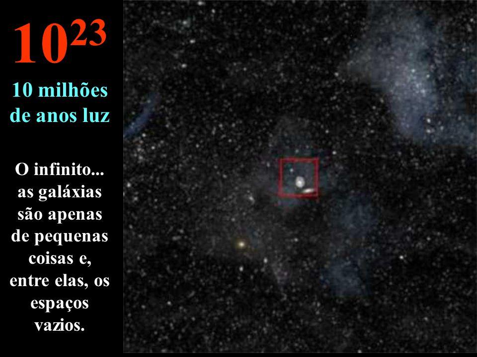 A nossa galáxia e outros... 10 22 1 milhão de anos luz