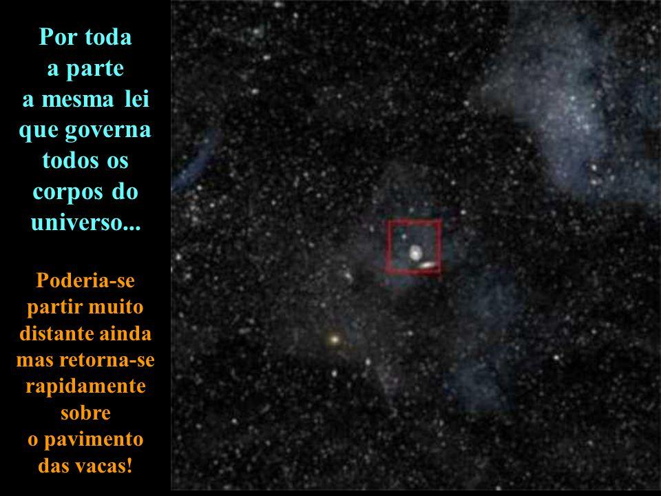 O infinito... as galáxias são apenas de pequenas coisas e, entre elas, os espaços vazios. 10 23 10 milhões de anos luz