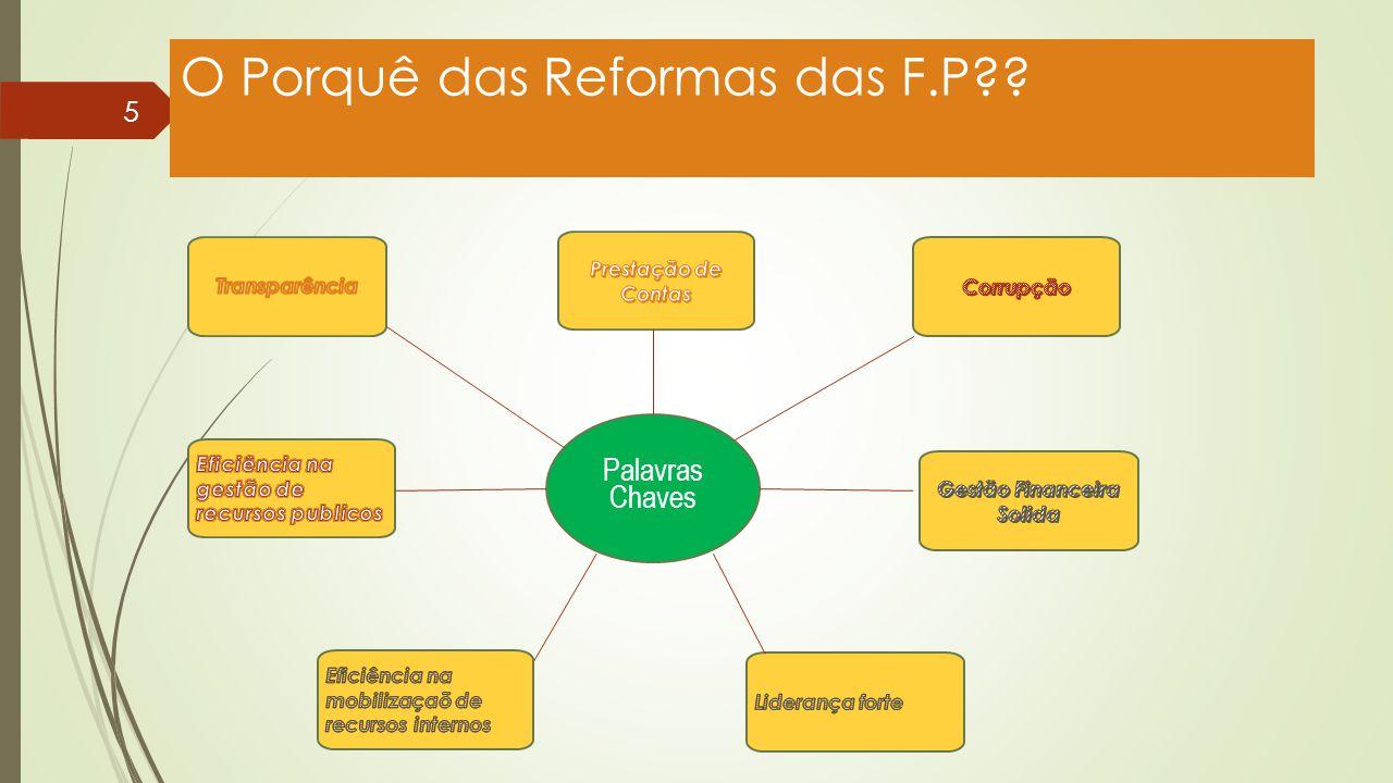 O Porquê das Reformas das F.P?? 5 Palavras Chaves