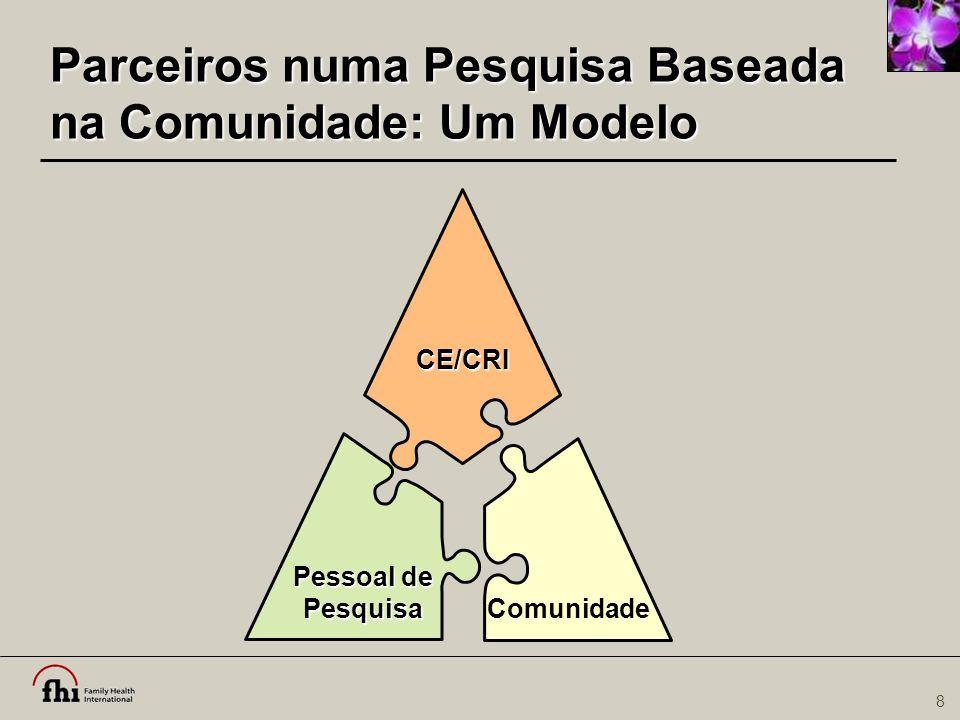 8 Parceiros numa Pesquisa Baseada na Comunidade: Um Modelo Pessoal de Pesquisa CE/CRI Comunidade