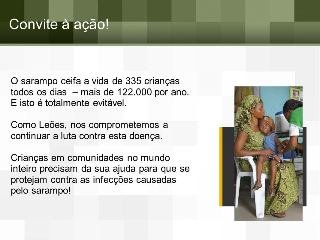 D. O sarampo afeta todas as áreas do mundo Surtos em 2013 Teste sobre o Sarampo