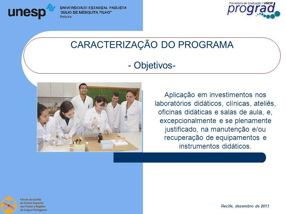 Recife, dezembro de 2013 CARACTERIZAÇÃO DO PROGRAMA - Método-