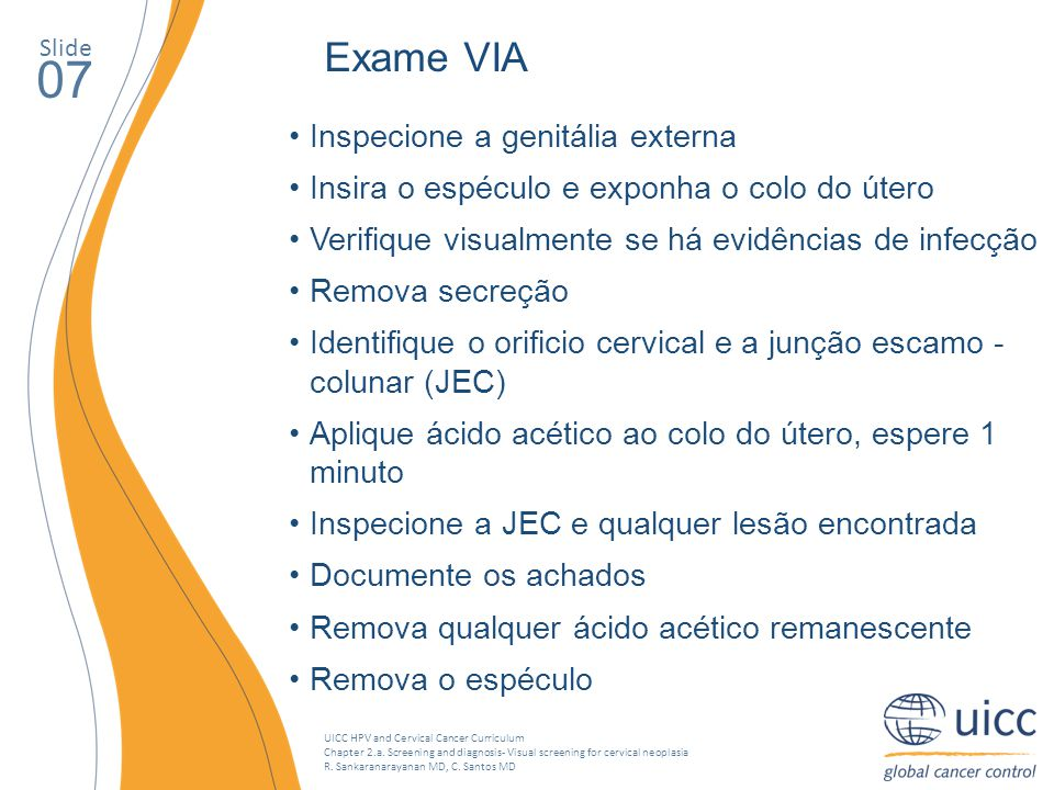 UICC HPV and Cervical Cancer Curriculum Chapter 2.a.