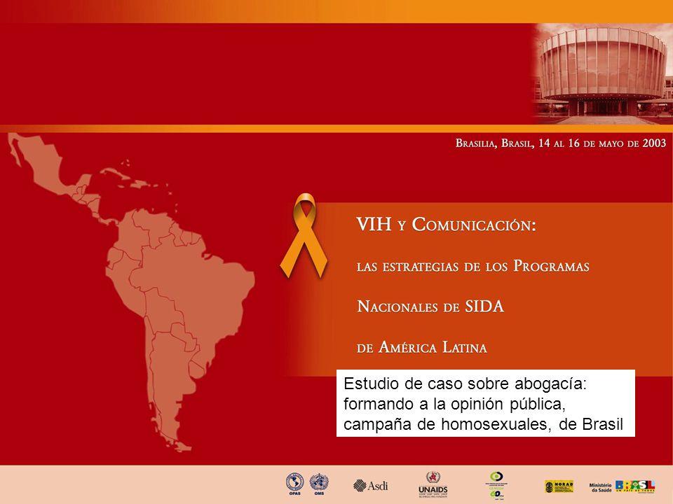 Estudio de caso sobre abogacía: formando a la opinión pública, campaña de homosexuales, de Brasil