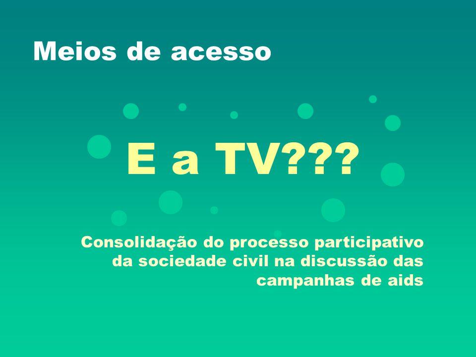 Meios de acesso E a TV .