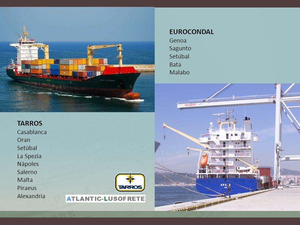 EUROCONDAL Genoa Sagunto Setúbal Bata Malabo TARROS Casablanca Oran Setúbal La Spezia Nápoles Salerno Malta Piraeus Alexandria