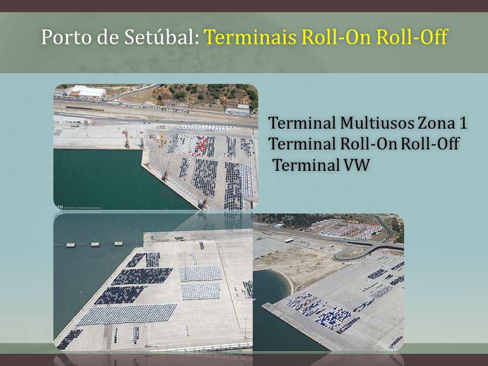 Porto de Setúbal: Terminais Roll-On Roll-OffPorto de Setúbal: Terminais Roll-On Roll-Off Terminal Multiusos Zona 1Terminal Multiusos Zona 1 Terminal Roll-On Roll-OffTerminal Roll-On Roll-Off Terminal VW Terminal VW