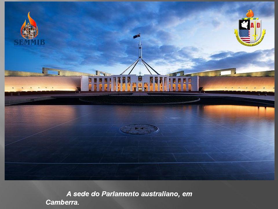 A sede do Parlamento australiano, em Camberra.