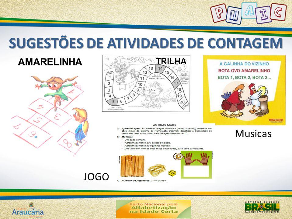 SUGESTÕES DE ATIVIDADES DE CONTAGEM AMARELINHA TRILHA JOGO Musicas