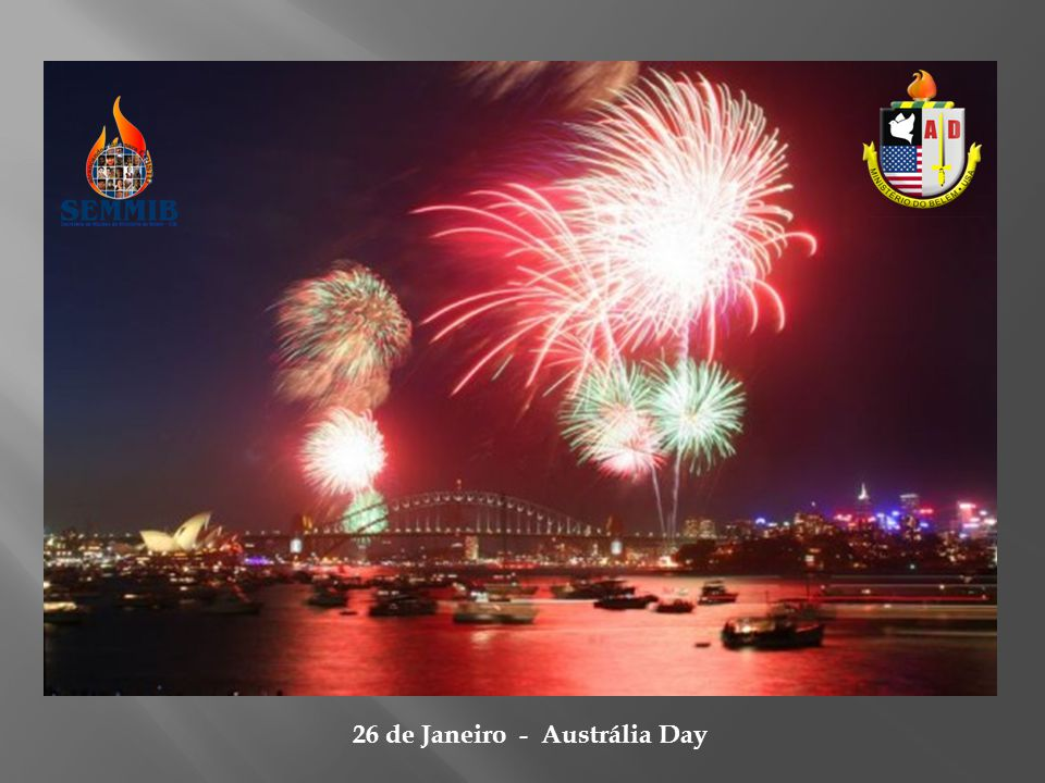 26 de Janeiro - Austrália Day