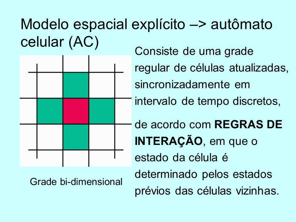 Efeito da estrutura de vizinhos Moore von Neumann Hexagonal Quatro vizinhosOito vizinhosSeis vizinhos
