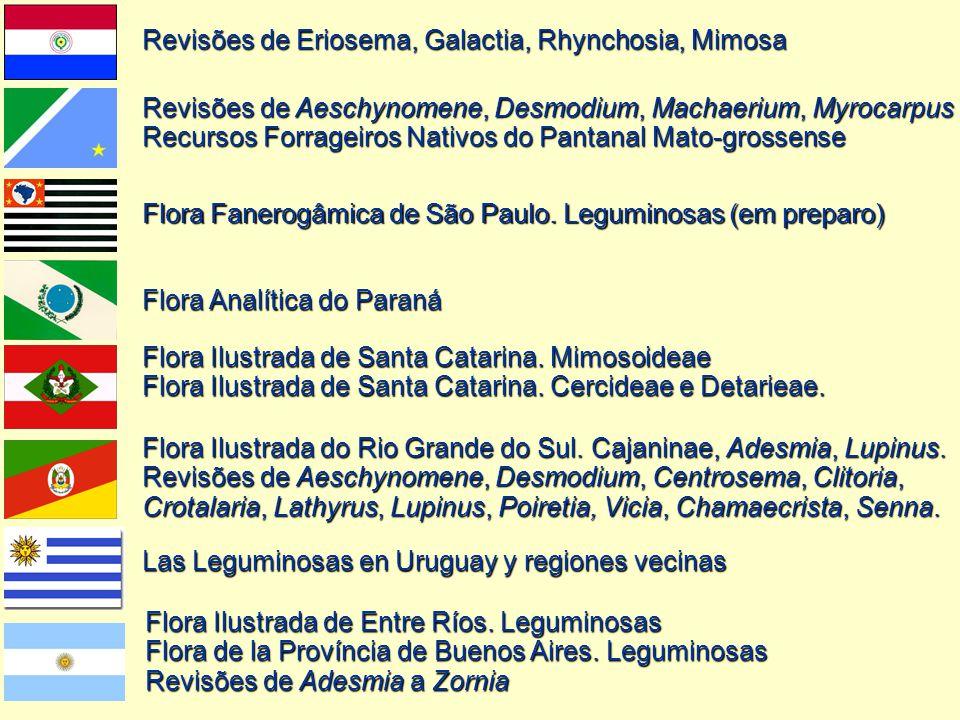 Flora Ilustrada de Entre Ríos. Leguminosas Flora de la Província de Buenos Aires. Leguminosas Revisões de Adesmia a Zornia Las Leguminosas en Uruguay