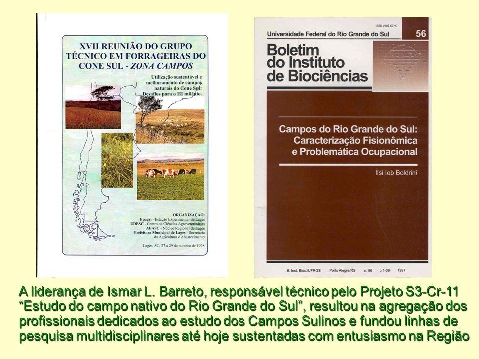 """A liderança de Ismar L. Barreto, responsável técnico pelo Projeto S3-Cr-11 """"Estudo do campo nativo do Rio Grande do Sul"""", resultou na agregação dos pr"""