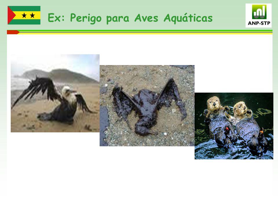 Ex: Perigo para Aves Aquáticas