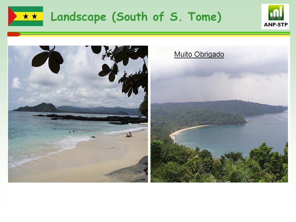 Landscape (South of S. Tome) Muito Obrigado