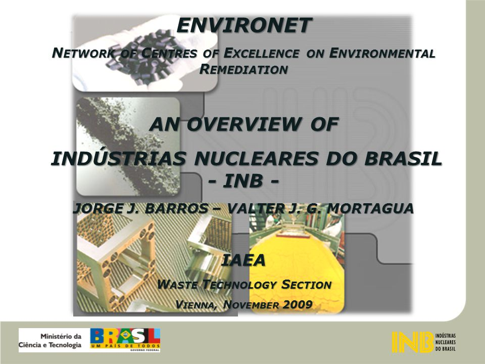 INDÚSTRIAS NUCLEARES DO BRASIL - INB USAM - BUILDING AND SOIL MONITORING