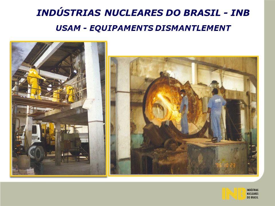 INDÚSTRIAS NUCLEARES DO BRASIL - INB USAM - EQUIPAMENTS DISMANTLEMENT