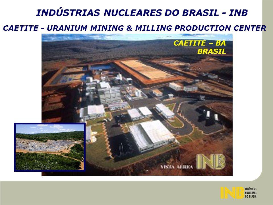 INDÚSTRIAS NUCLEARES DO BRASIL - INB CAETITE - URANIUM MINING & MILLING PRODUCTION CENTER CAETITE – BA BRASIL