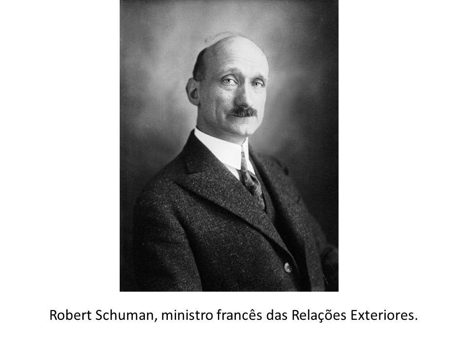 Robert Schuman, ministro francês das Relações Exteriores.