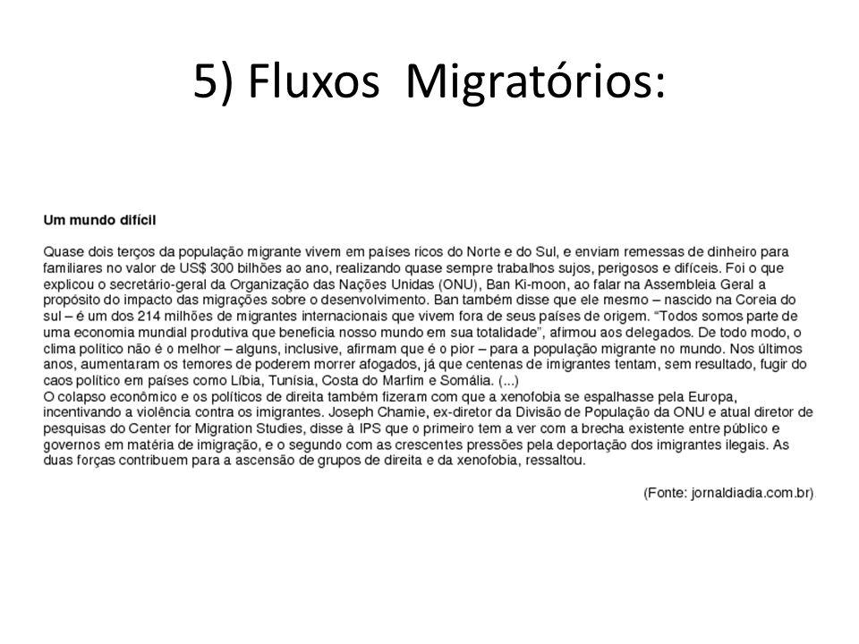 5) Fluxos Migratórios: