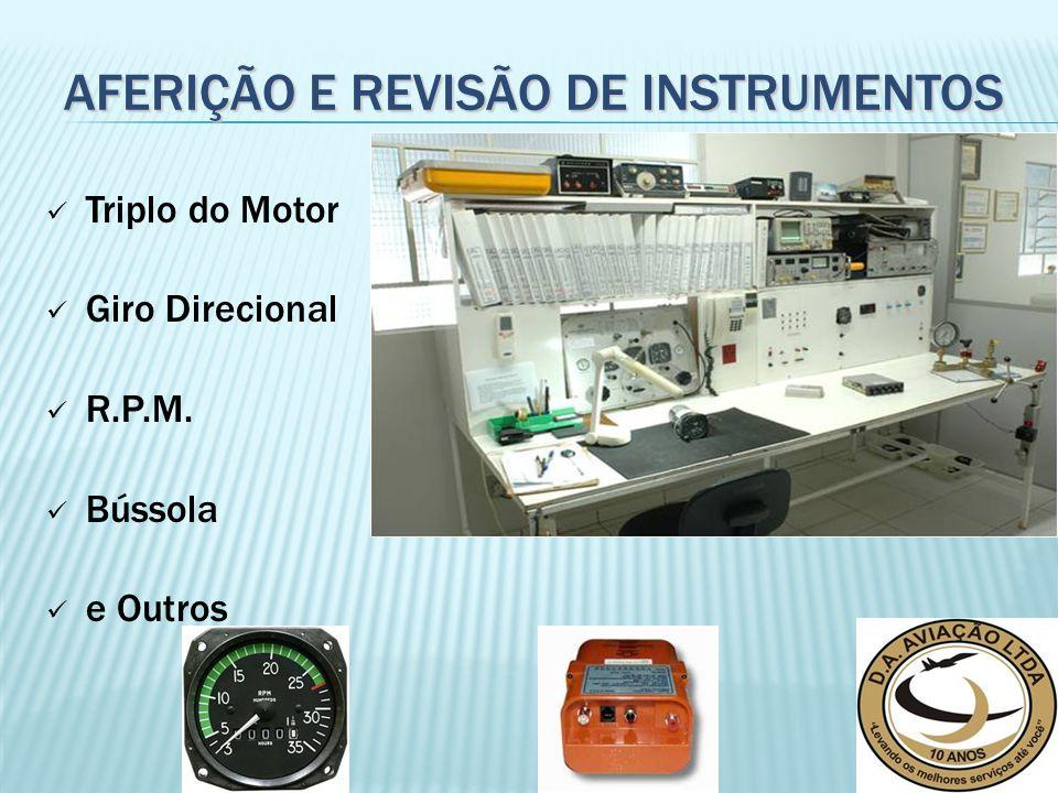 Triplo do Motor Giro Direcional R.P.M. Bússola e Outros AFERIÇÃO E REVISÃO DE INSTRUMENTOS
