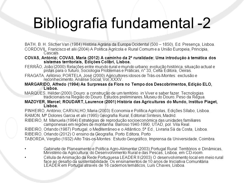 Bibliografia fundamental -2 BATH, B. H.