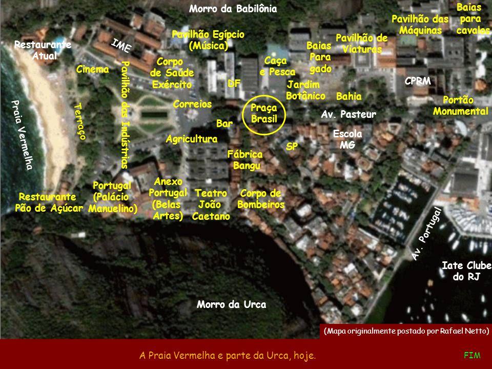 Fábrica Bangu Esta superposição de imagens nos ajuda a inserir a Exposição no contexto do Rio de hoje. Av. Portugal Iate Clube do RJ Av. Pasteur IME P