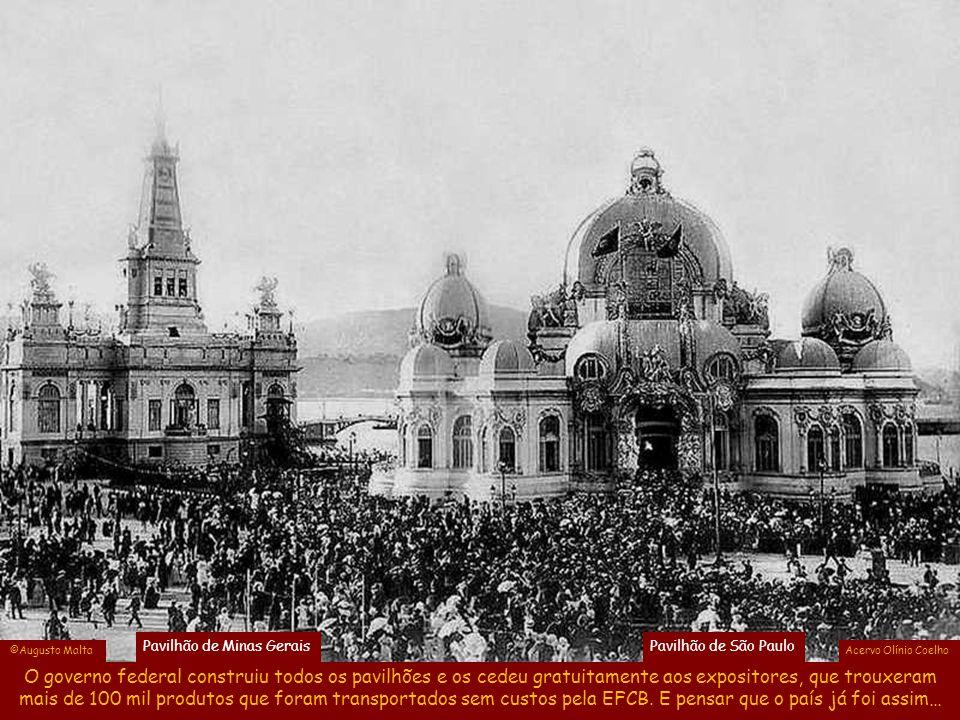 Na república recém proclamada, a ideia era ressaltar a capacidade empreendedora do Brasil, usando uma arquitetura efêmera comum na época, em que Pavil
