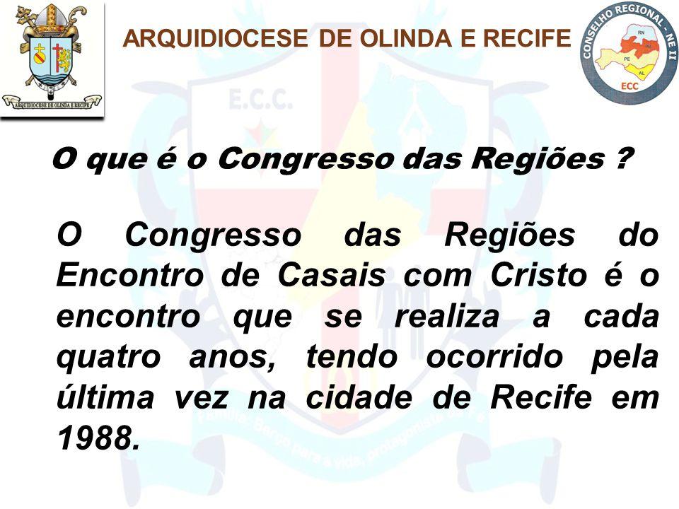 O Congresso das Regiões do Encontro de Casais com Cristo é o encontro que se realiza a cada quatro anos, tendo ocorrido pela última vez na cidade de Recife em 1988.