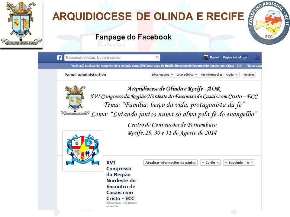 ARQUIDIOCESE DE OLINDA E RECIFE Fanpage do Facebook