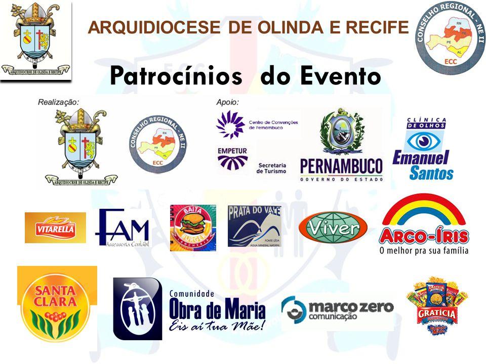 Patrocínios do Evento ARQUIDIOCESE DE OLINDA E RECIFE