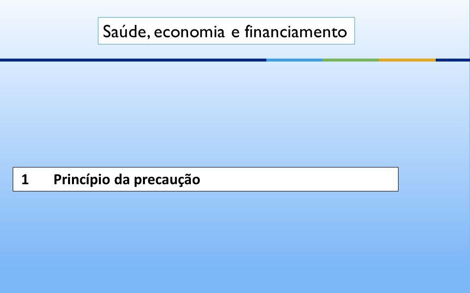 1 Princípio da precaução Saúde, economia e financiamento