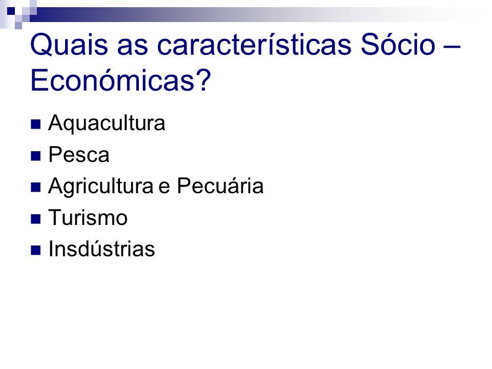 Quais as características Sócio – Económicas.