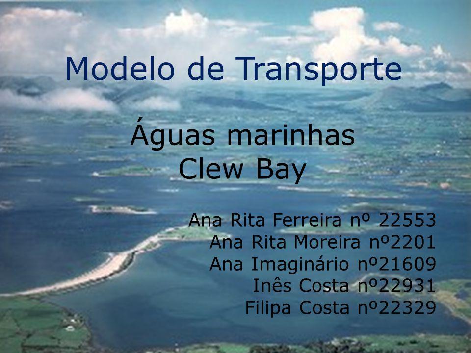 Modelo de Transporte Águas marinhas Clew Bay Ana Rita Ferreira nº 22553 Ana Rita Moreira nº2201 Ana Imaginário nº21609 Inês Costa nº22931 Filipa Costa nº22329