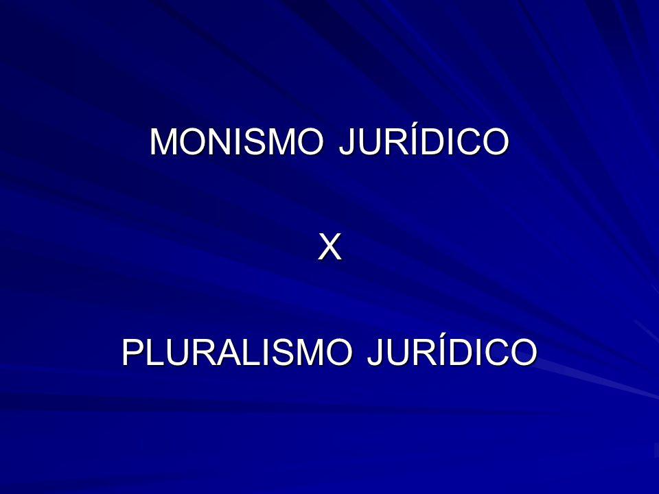 MONISMO JURÍDICO X PLURALISMO JURÍDICO