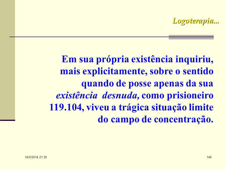 14/9/2014 21:38 139 O Sentido da vida e o Compromisso Existencial O sentido da vida é um problema caracteristicamente humano e uma indagação que todo