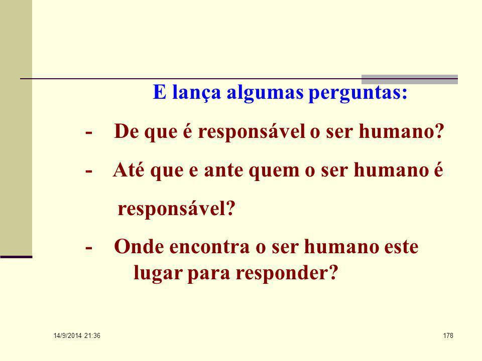 """14/9/2014 21:38 177 PAREJA HERRERA (1984) Afirma que: """" Se analisarmos o termo responder e especificamente a responsabilidade, veremos que se trata de"""