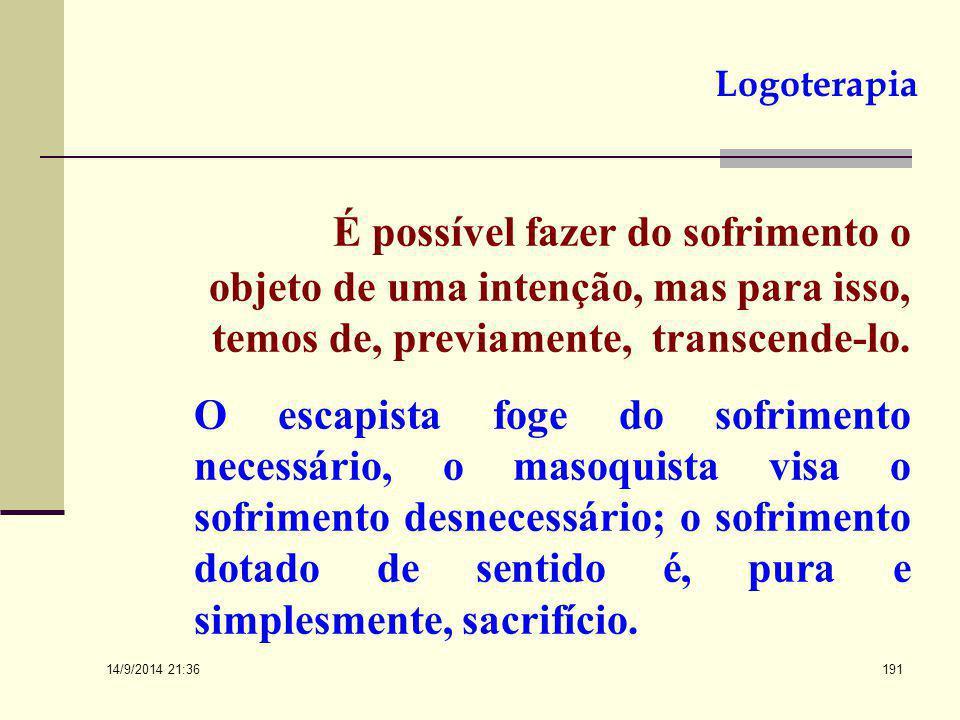 14/9/2014 21:38 190 O SENTIDO DO SOFRIMENTO A vida envolve sofrimento, e se a vida é significativa, deve também haver significado no sofrimento. Ele p