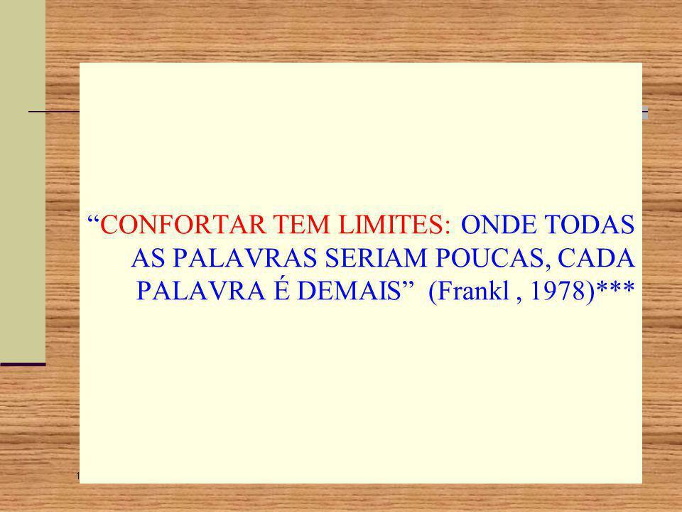 14/9/2014 21:38 193 Logoterapia Entretanto o sentido último do sofrimento só poderá ser dado sob o prisma da fé e do amor. Frankl não fala só no homem