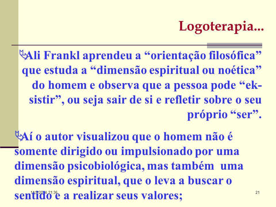 14/9/2014 21:38 20 Vitor desliga-se das escolas freudianas e adleriana, respectivamente a primeira e a segunda escolas de psicoterapia de Viena, e pro