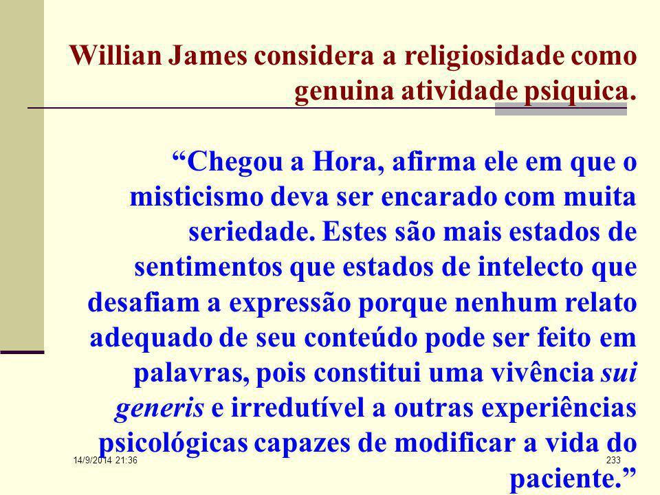 """14/9/2014 21:38 232 Para Jung a experiência religiosa é critério de integração psicológica. """"Visto que a religião constitui, sem dúvida alguma, uma da"""