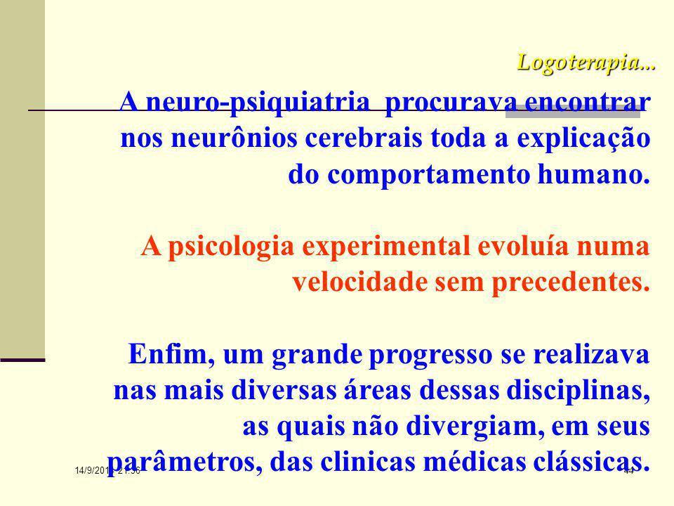 14/9/2014 21:38 43 Se iniciarmos com a época pré- freudiana, veremos que a psiquiatria e a neurologia da época constituíram-se de um verdadeiro caos e