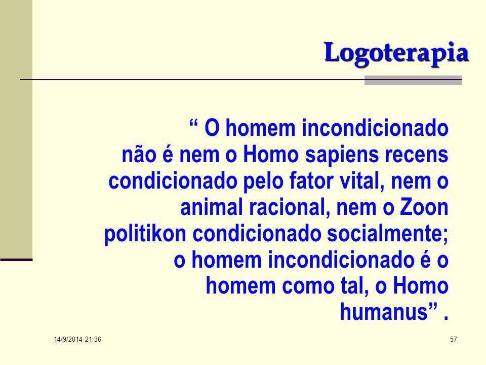 """14/9/2014 21:38 56 OS FUNDAMENTOS DE LOGOTERAPIA (Contextualizando) Do Livro """"A PSICOLOGIA DO SENTIDO DA VIDA"""" – Izar Ap. Xausa 2a. ed. – Ed. Vozes. L"""