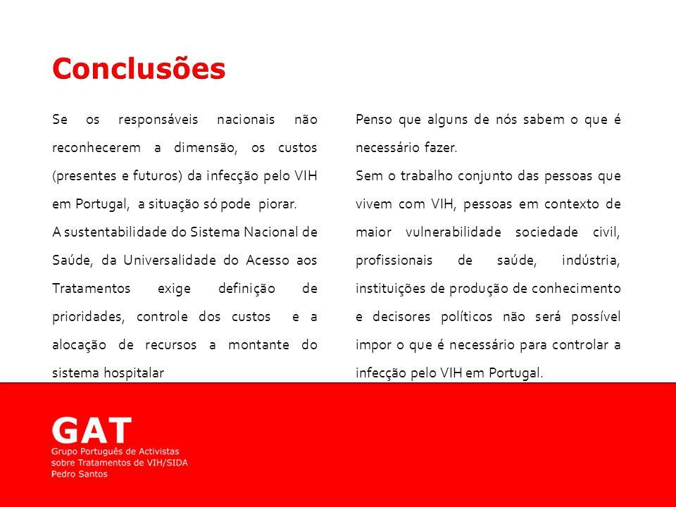 Se os responsáveis nacionais não reconhecerem a dimensão, os custos (presentes e futuros) da infecção pelo VIH em Portugal, a situação só pode piorar.