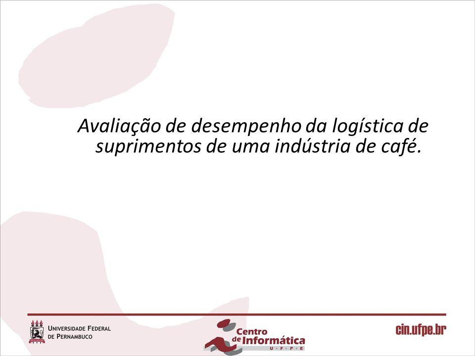 Avaliação de desempenho da logística de suprimentos de uma indústria de café.